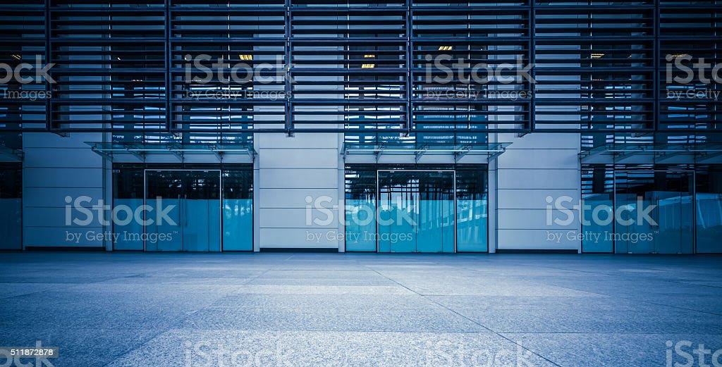 Modern office storefront stock photo