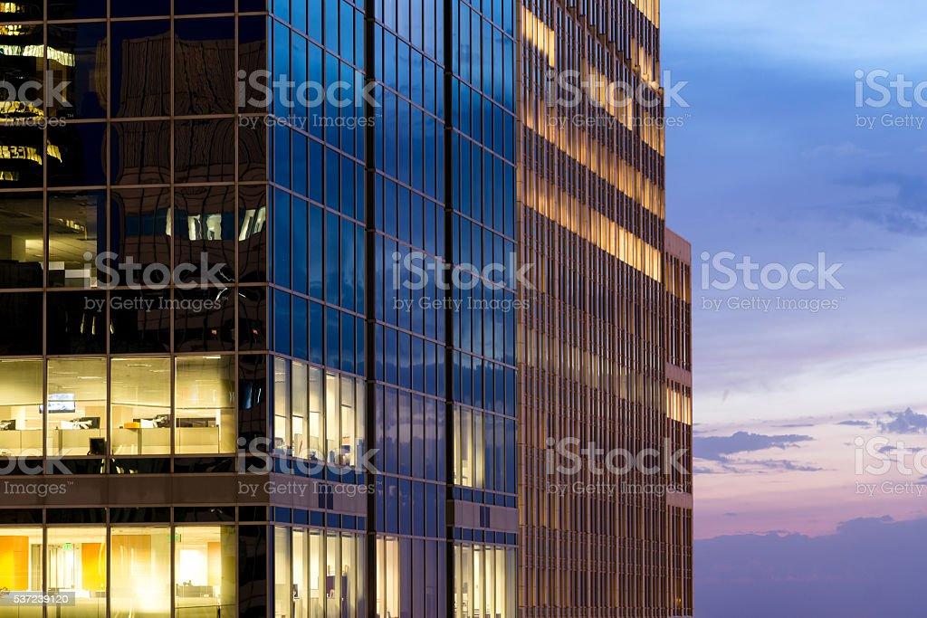 Modern Office Sunset stock photo