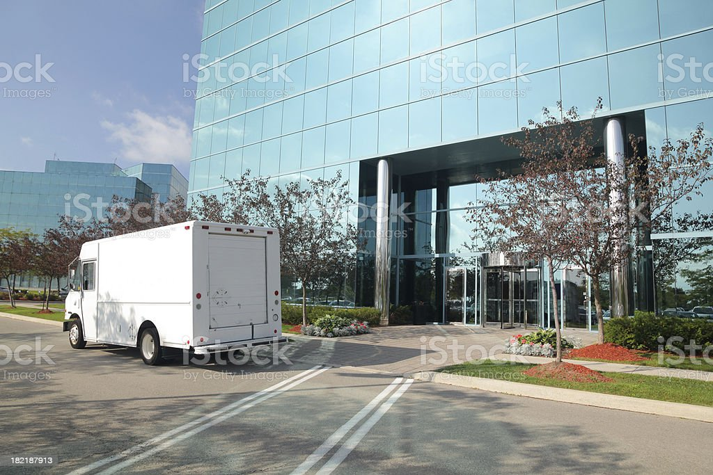 Delivering stock photo