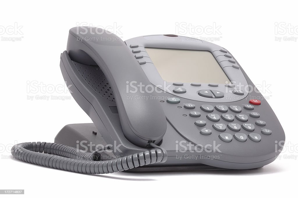 Modern office system phone with large LCD screen royalty-free stock photo