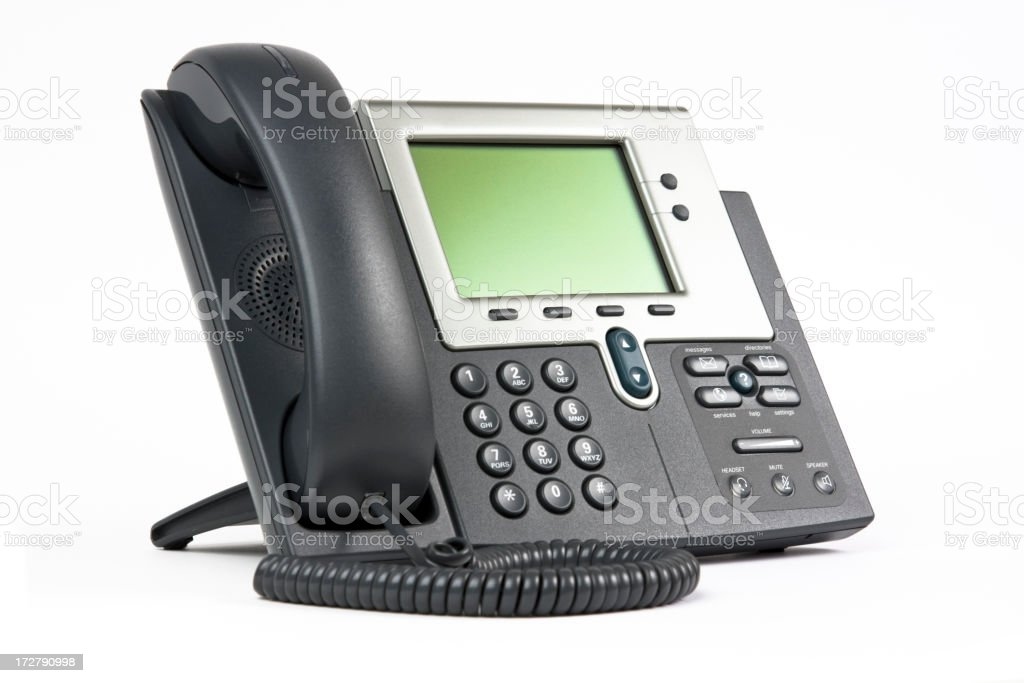 Modern office telephone stock photo