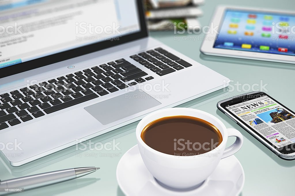 Modern office workplace royalty-free stock photo