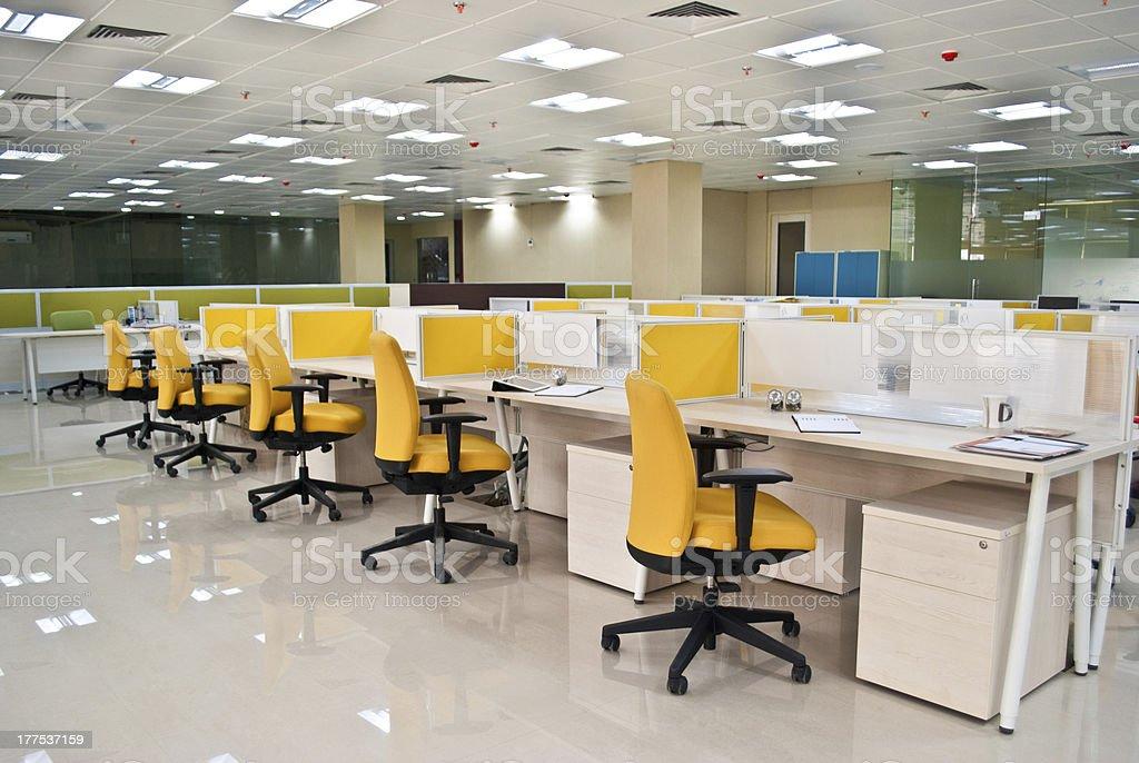 modern office workstation stock photo