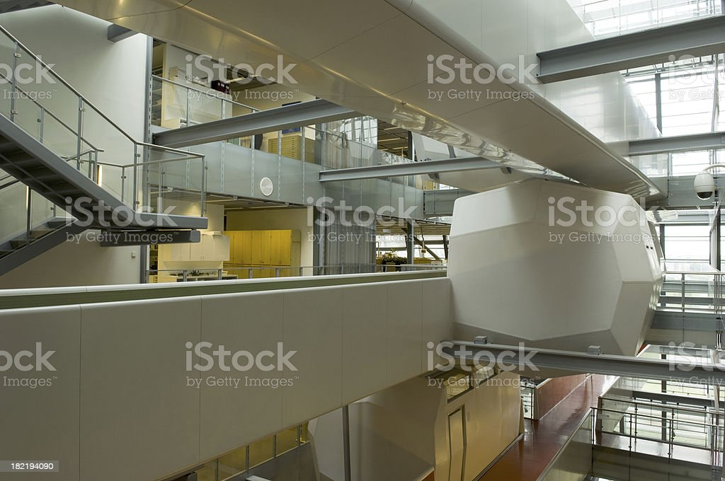 Modern offices building interior stock photo