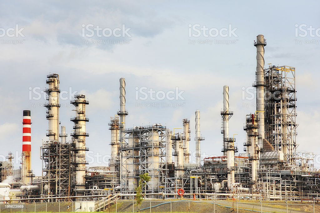Modern Oil Refinery in Levis royalty-free stock photo