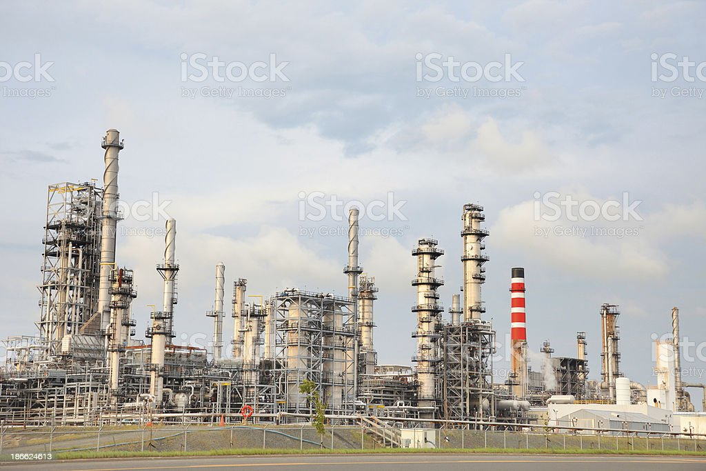 Modern Oil Refinery royalty-free stock photo