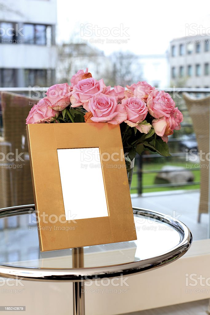 Modern olden picture frame royalty-free stock photo