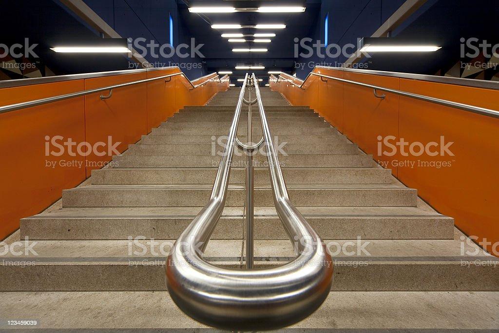 modern orange staircase royalty-free stock photo