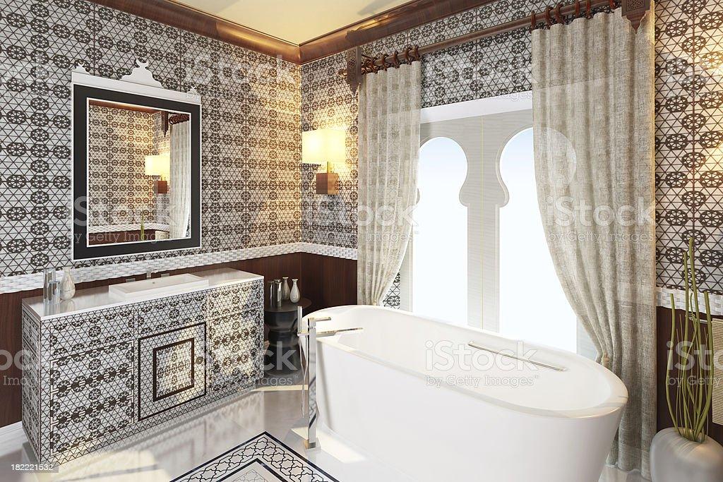 Modern Orient Bathroom royalty-free stock photo