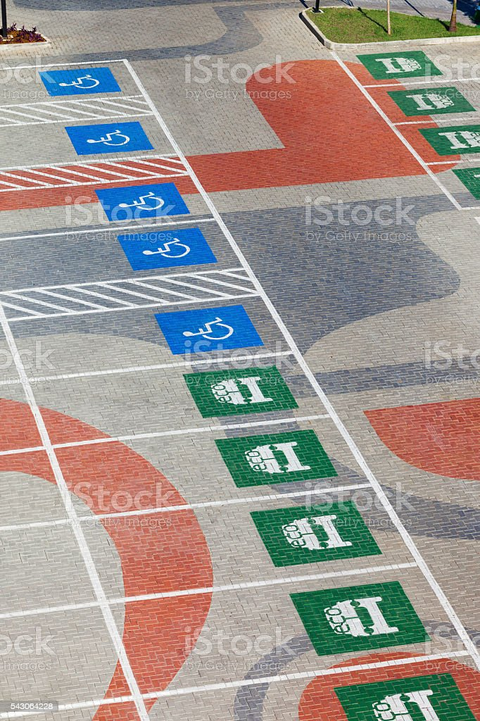 Modern parking space stock photo