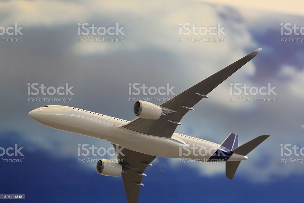 Modern Passenger Airplane stock photo