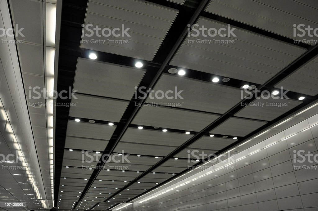 Modern Path / Mall / Subway / Architecture Ceiling stock photo