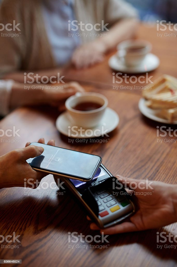 Modern payment system stock photo