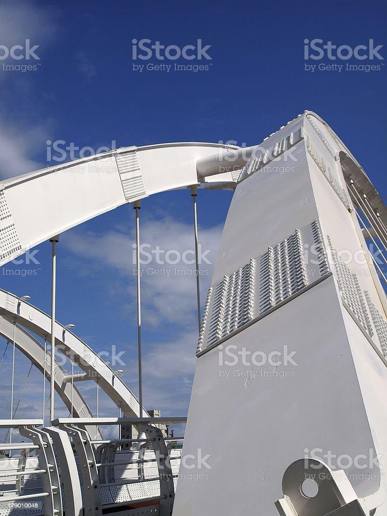 Modern Pedestrian Bridge royalty-free stock photo