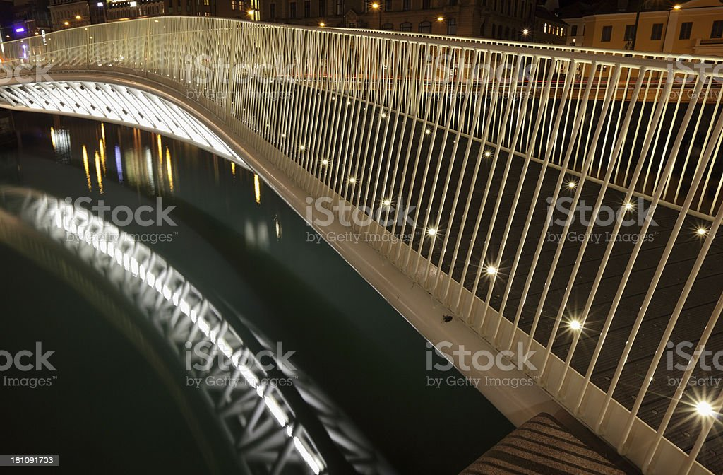 modern pedestrian bridge royalty-free stock photo