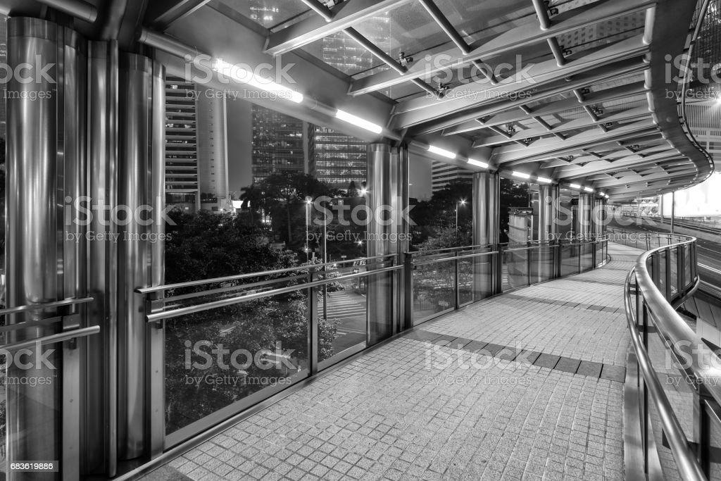 modern pedestrian walkway stock photo