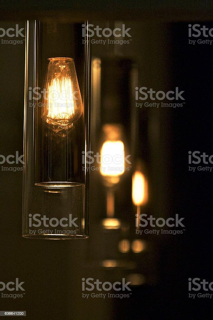 Modern Pendant Lighting stock photo