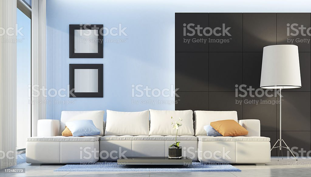 Modern Penthouse Interior royalty-free stock photo