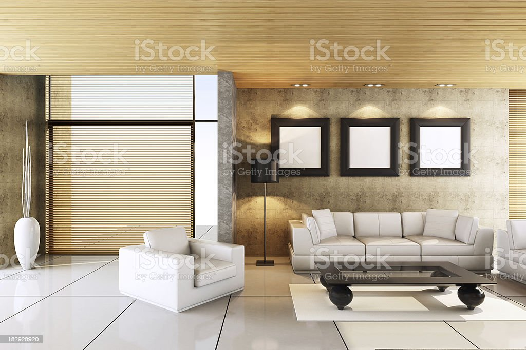 Modern Penthouse Interior royalty-free stock photo
