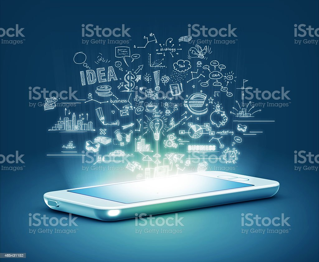 Modern phone business concept stock photo