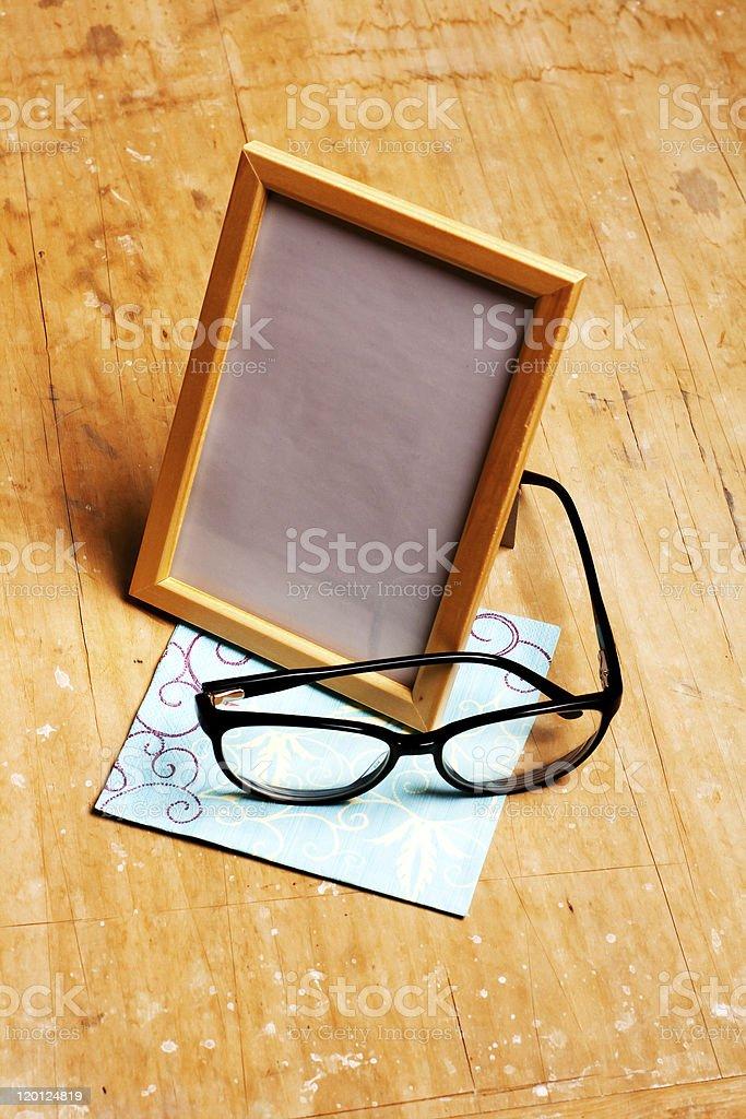 photoframe moderna con gafas foto de stock libre de derechos