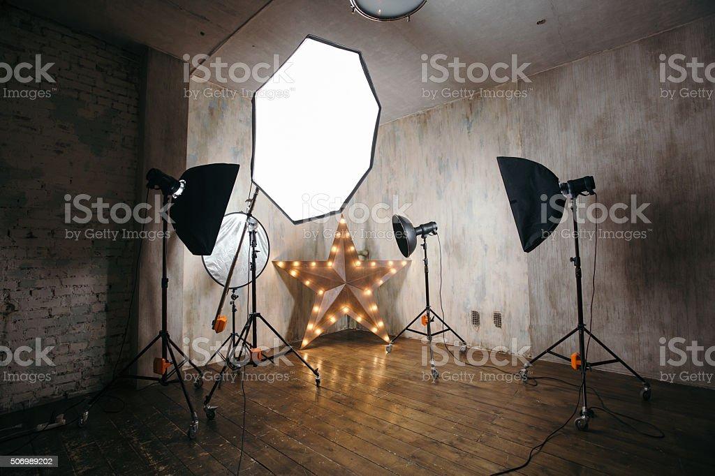 Modern photostudio stock photo