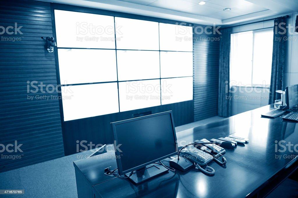 Modern plant control room stock photo