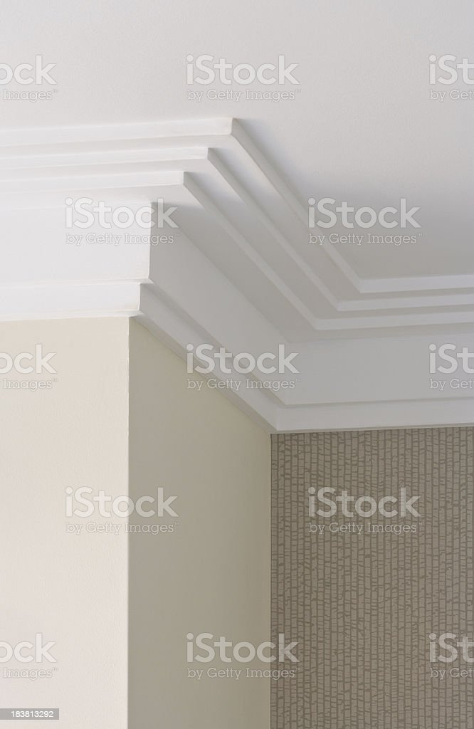 modern plaster cornice royalty-free stock photo