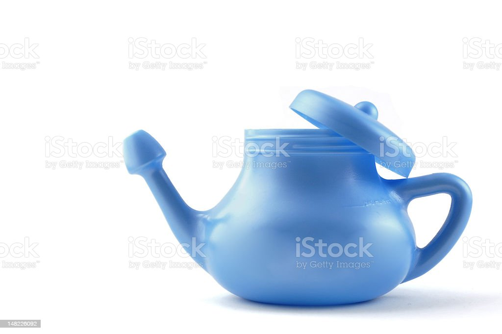 Modern Plastic Neti Pot stock photo