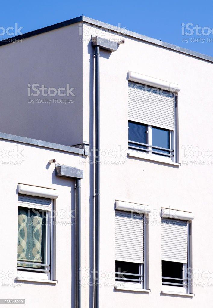 modern plattenbau stock photo