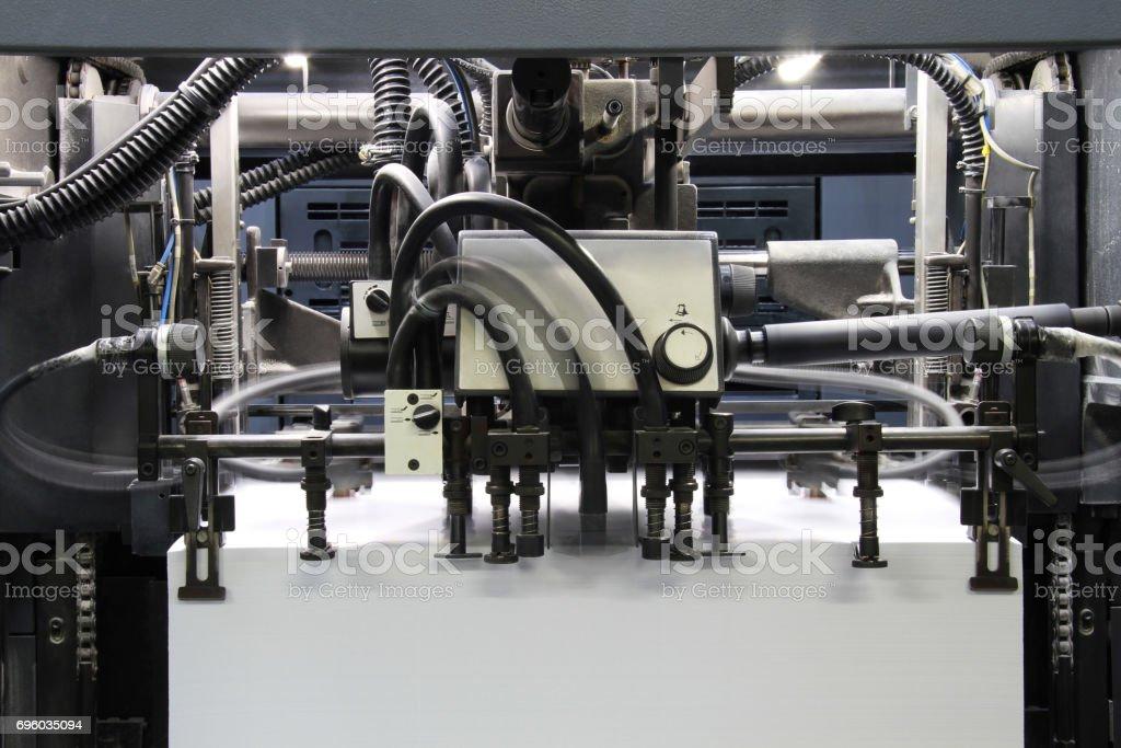 modern printing house stock photo