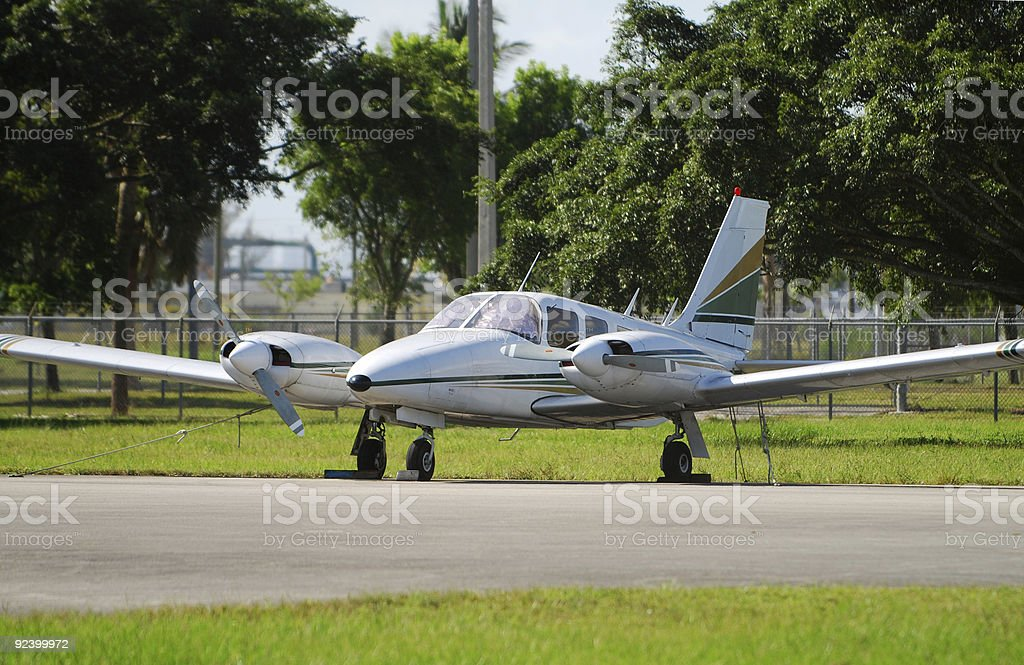 Modern private turboprop airplane royalty-free stock photo