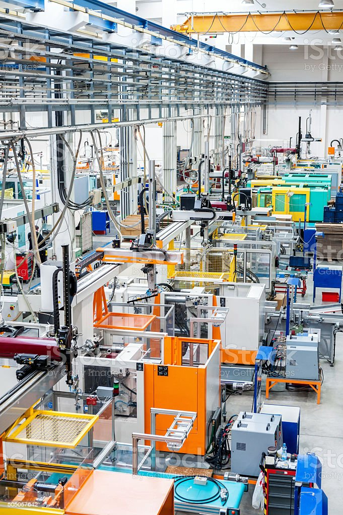 Modern production line stock photo