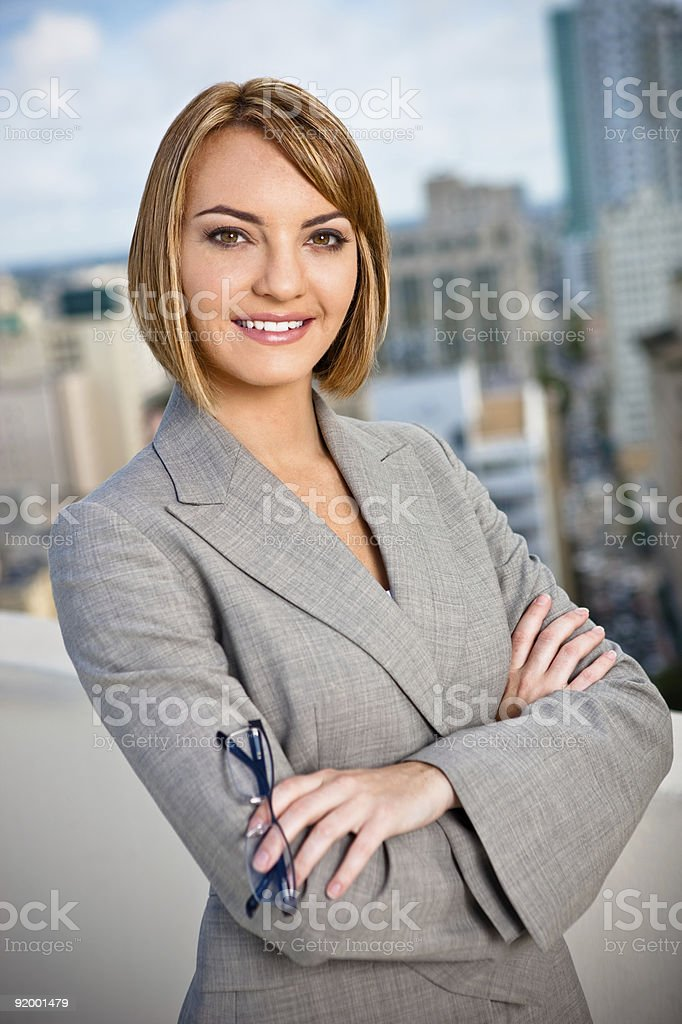 Modern Professional Businesswoman Portrait royalty-free stock photo