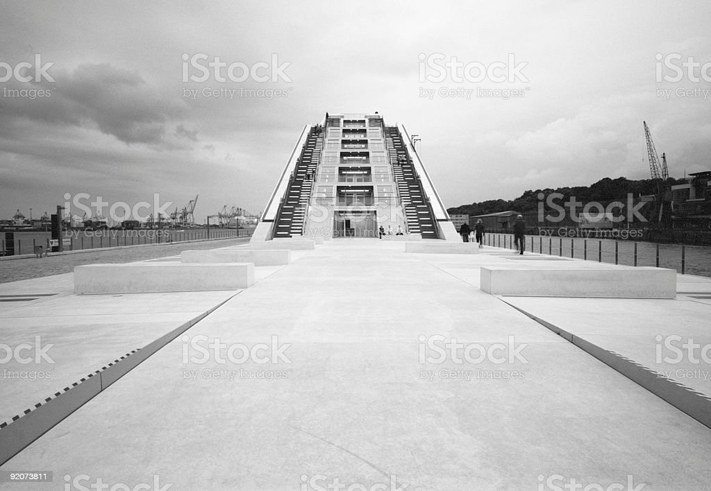 modern pyramid stock photo