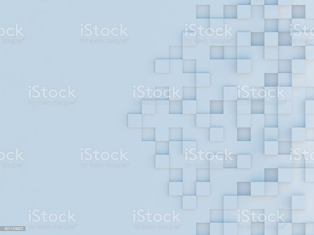 Modern Quadratic Cubes Abstract 3d Background stock photo