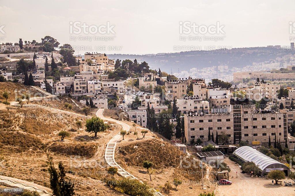 Modern quarter in Jerusalem stock photo