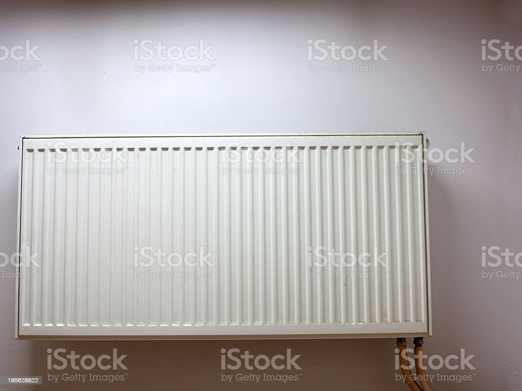 modern radiator at the wall royalty-free stock photo