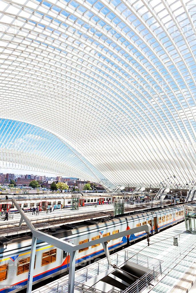 Modern Railway Station stock photo