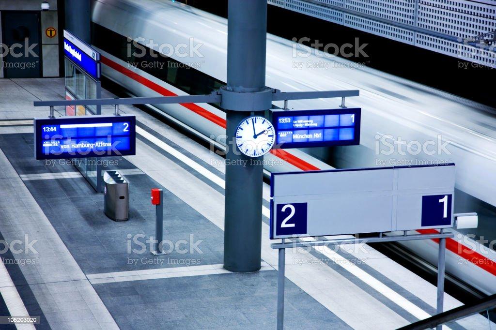 Modern Railwaystation stock photo