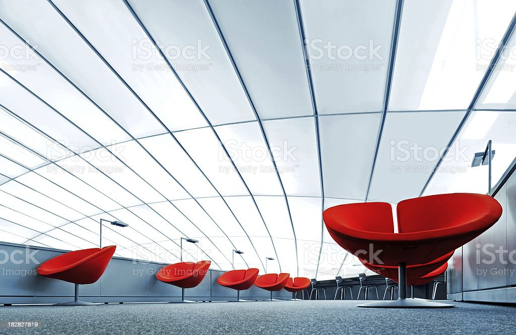 Modern Reading Lounge stock photo