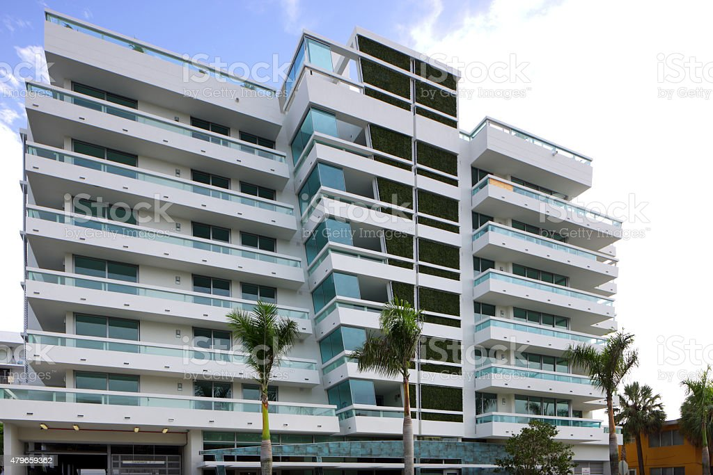 Modern real estate in Miami Beach stock photo