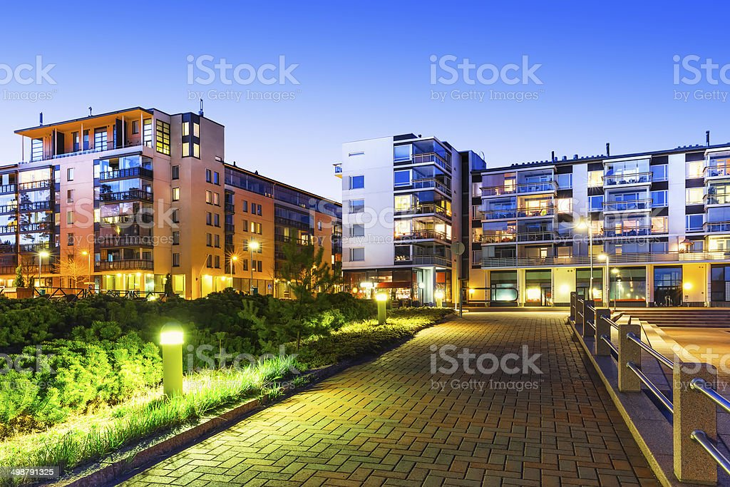 Modern real estate stock photo