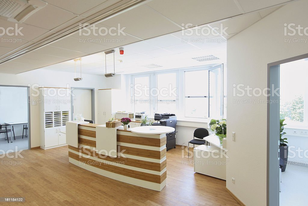 Modern reception area stock photo