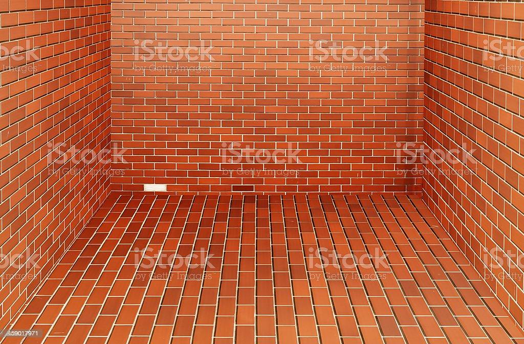 Modern red brick wall royalty-free stock photo