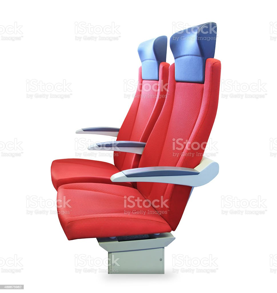 Modern red passenger chair isolated stock photo