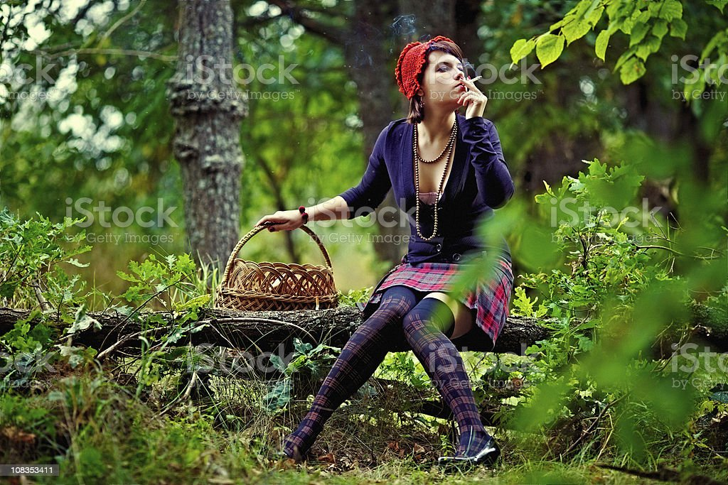 Modern Red Riding Hood royalty-free stock photo