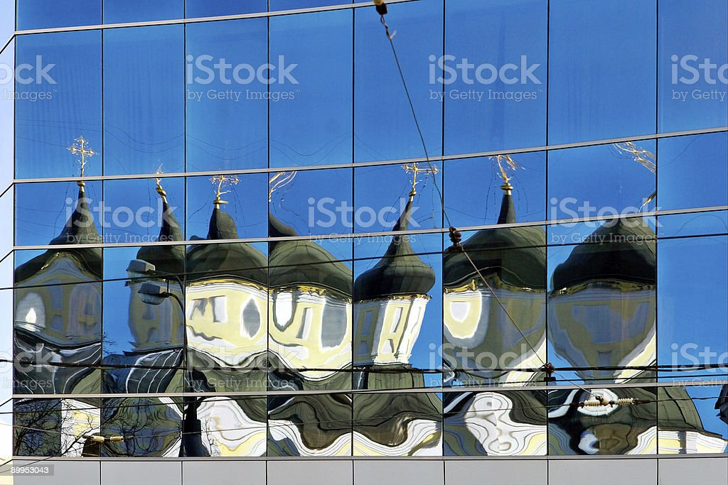 Modern reflections_mirrors of the god royalty-free stock photo