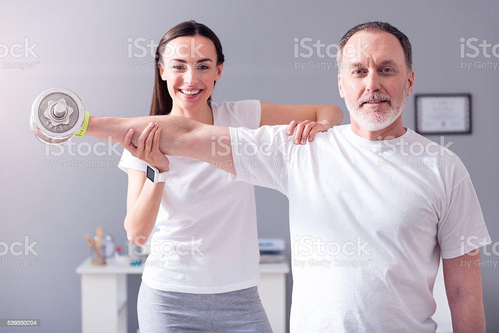 Modern rehabilitation physiotherapy stock photo