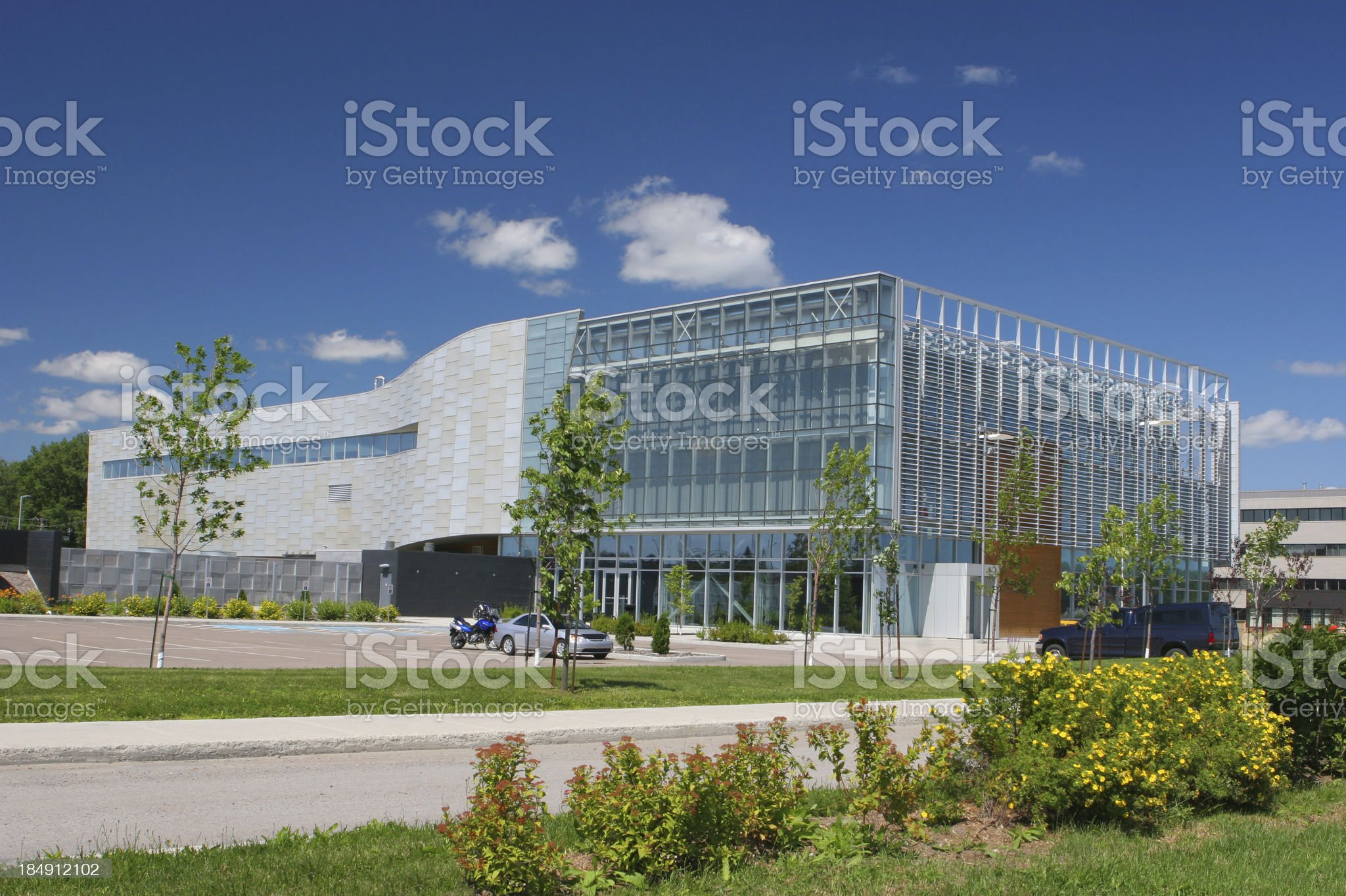 Modern Research Center royalty-free stock photo